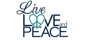 live love and peace logo